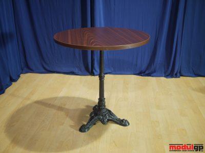 Thonet asztal, díszített talpú, D=80cm