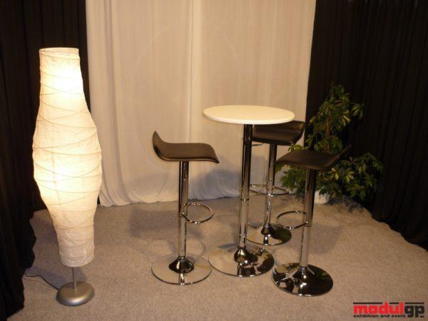 Fehér bárasztal, Tina gázrugós bárszékkel