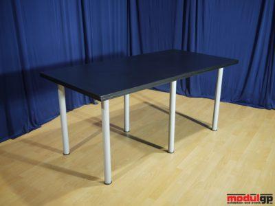Fekete fedlapú asztal, 160x80cm