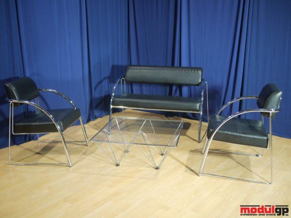 Tonino dohányzó asztal, Tonino műbőr kanapéval és 2db Tonino műbőr fotellel