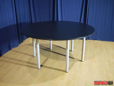 Fekete kerek asztal, D=180cm