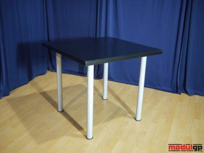Fekete fedlapú asztal, 80x80cm