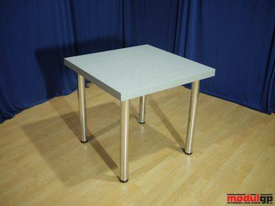 Szürke fedlapú asztal, 80x80cm