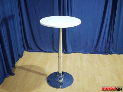 Fehér bárasztal, 101cm magas, D=56cm