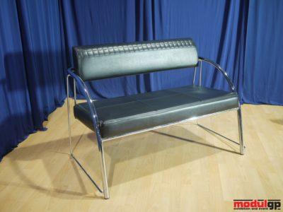 Tonino fekete műbőr kanapé