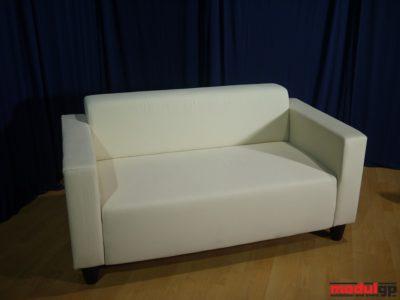 Klobo szövet kanapé, fehér