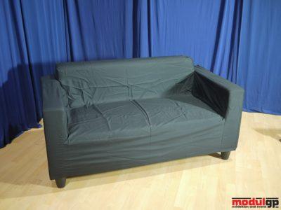 Klobo szövet kanapé, fekete